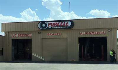 Purcell Tire invested $175,000 to convert its outlet in Las Vegas, Nev., from a commercial to a blended store. There are three bays in the front and three bays in the back to offer commercial and retail services to customers.