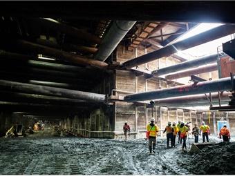 Los Angeles Metro's Purple Line extension project under construction. Stantec