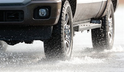 To aid in wet traction, the all-season tire features full-depth sipes and the company's +Silane technology.