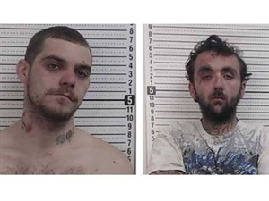 These two burglary suspects in Chillicothe, Ohio, were captured by police thanks to the efforts of a school bus driver and his passengers. Photos courtesy Ross County Sheriff's Office