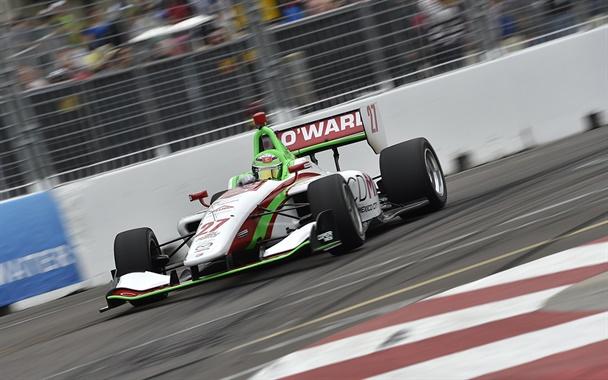 Pato O'Ward in his No. 27 CDMX Mexico City Mazda-Andretti Autosport Dallara-Mazda IL-15.