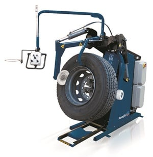Rav America says the GTB-16N machine is specifically designed for medium-duty, light truck, super-duty, and wide- base tubeless tires. It is used in mounted wheel programs and is capable of the high cycle counts and rigorous demands of high-volume applications.