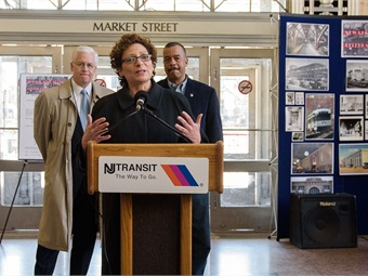 NJ Transit Executive Director Ronnie Hakim during a presentation at Penn Station earlier this year. Photo: NJ Transit