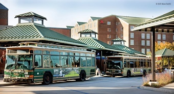 INIT will implement an account-based electronic fare and back-office revenue management system on RIPTA's fixed-route fleet of more than 240 buses. Photo: © Bill Marchetti