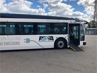 The Rhode Island Public Transit Authority is deploying three 40-footProterra Catalyst® E2 electric buses. Photo: Proterra