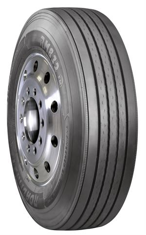 Cooper says uniform wear along with a four-belt high tensile steel casing separates the new RM832 EM steer ture from other tires at its price point.