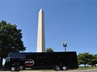 RMA's motor coach fleet goes to work for large events, corporate charters, and university clients.