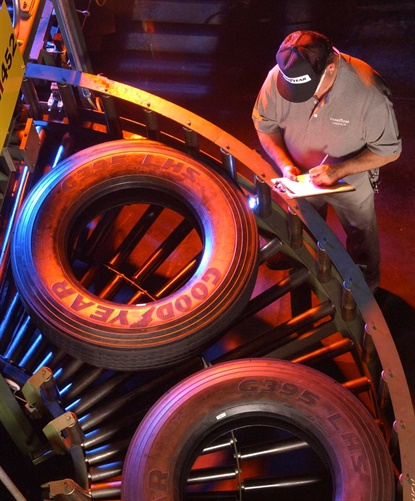 """Goodyear has started a """"limited ramp-up"""" of its truck tire plants in Danville, Va., and Topeka, Kan."""