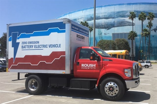 While Roush's unveiling at the ACT Expo was a Ford F-650 truck, the company said it also sees the school bus market as a good fit for an electric product.
