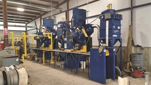 Pete's Tire Barn renovated a storage area at its retread plant into a facility for steel rim powder coating services.