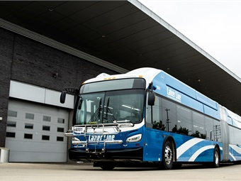 Laker Line buses will be higher capacity, 60-foot articulated articulated vehicles powered by CNG.