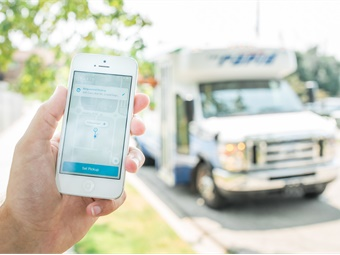 Using the Rapid On Demand app, riders will be able to hail a shuttle directly from their smartphone.