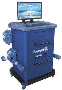 The Rav FastLiner 8000 Series is Rav America's standard truck aligner. The company says the unit includes FastCheck software so a smaller operation can use the system for both selling and performing alignments.