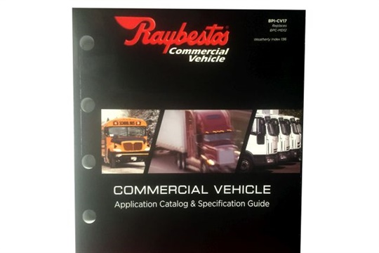 Raybestos' new guide provides part numbers and spec information for the brake supplier's complete commercial vehicle line.