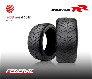 Federal Tires' 595RS-RR ultra-high performance tire has won a Red Dot Design Award.