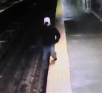 Surveillance footage shows a man at the Berks Station on SEPTA's Market-Frankford subway-elevated line talking on his phone, walking off the platform and falling into the track area. He was not seriously hurt.