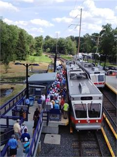 The Ardmore Avenue stop on the Norristown High Speed Line. On a normal day, that stop has a ridership of about 100. During the Open, it was 10,000, which is the normal daily ridership for the entire Norristown High Speed Line.