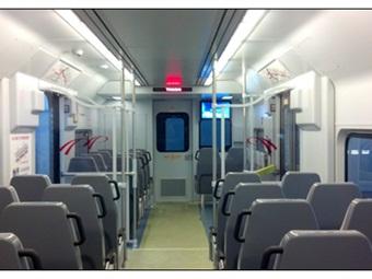 PATCO refurbished railcar interior