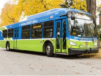 Rochester, N.Y.'s Regional Transit Service will upgrade its fleet's onboard hardware and software with technology from Conduent Transportation. Photo: Conduent Transportation