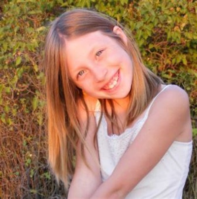 Makayla Strahle, 11, was fatally struck while crossing the street after exiting her bus on Dec. 20, 2011. Photo courtesy Dan Sperry