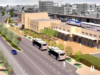 City of Oklahoma City rendering of its Santa Fe Transportatin Hub.