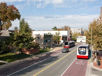 A rendering of Route 7. Courtesy of NVTC