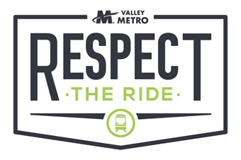 The new Valley Metro policy is supported by simple, easy-to read signs and clearly marked enforcement areas to strengthen the message of passenger safety.