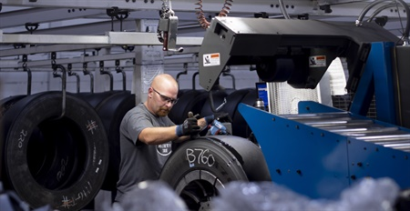 """In addition to increasing the capacity of its 10 retread plants in the new year, McCarthy Tire Service Inc. is concentrating on expense control. John McCarthy Jr., MTD's 2019 Tire Dealer of the Year, says insurance rates — auto, general liability and umbrella coverage — are all going up """"in a big way, and every dealer I've talked to is saying the same thing. It makes you look at everything."""" Photo by Michael Touey, Halibut Blue LLC"""