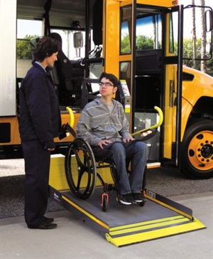 Ricon launches new wheelchair lifts for school buses for 2 story wheelchair lift