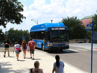 The 38 new buses include 18 29-foot buses and 20 40-foot buses. Buses have been put on RideKC routes in groups of 10, and the last group of eight buses just hit the road.KCATA