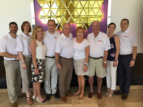 Dalotto (third from right) celebrated his second retirement in 2016 with colleagues from Jack Williams Tire on a dealer trip to Cancun. Photo: Scott Williams