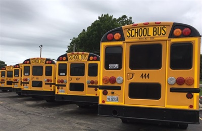 Rockford (Ill.) Public Schools 205 dealt with a driver shortage bymoving from a two-tier to a three-tier bus system. It decreased its number of routes from 200 to 160. Photo courtesy Michael Slife