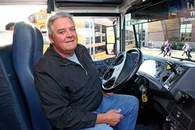Bus driver Rod Price responded in the nick of time to save a choking boy. Photo courtesy Boone County Schools