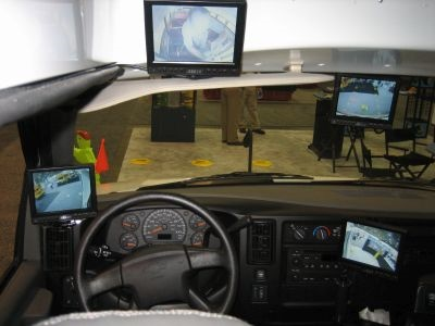 In 2006, Rosco brought a school bus without any mirrors to the NAPT trade show. Every mirror was replaced with a camera and monitor.