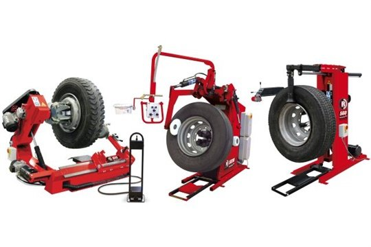 Rotary's three new heavy-duty tire changers are (from left) the R511 Commercial HD, the R501N Speed Changer HD, and the R560 Mobile HD.
