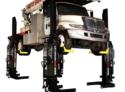 Rotary Lift's remote-controlled lift lineup now includes the MCHF14 FLEX lift, which provides 14,000 pounds of capacity per column.