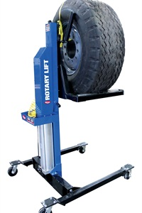 Rotary Lift's MW-500 Mobile Wheel Lift can remove and position any size wheel or tire weighing up to 500 pounds, company officials said.