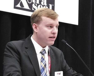 Roy Littlefield IV, or RL4 as he's known within the Tire Industry Association, provided members with a legislative update during the SEMA Show.