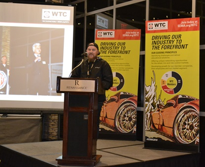 Ryan Williams honored his father Wayne Williams with a tearful, heartfelt speech the night Wayne was inducted into the Wheel and Tire Council Hall of Fame.