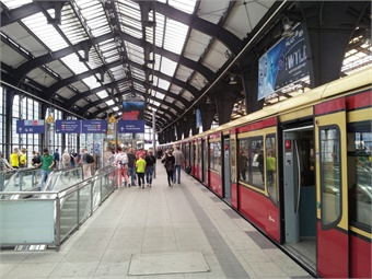 S-Bahn service at Berlin Station.