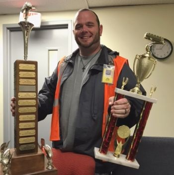 Shawn Sawyer, from Durham School Services, earned first place at the Massachusetts School Bus Driver Safety Competition.