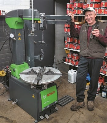 It's always a happy day when you take delivery of new shop equipment. Just ask Bill Caroniti of Updated Automotive Repair Inc. in North Royalton, Ohio.