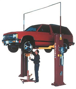 When choosing a twin-post lift, opt for the tallest version that will fit your shop's ceiling height. This provides increased capabilities for servicing SUVs and trucks.