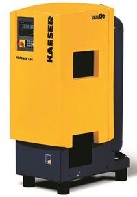 Depending on the shop's requirement for compressed air frequency of use and duty cycle, a rotary screw design can offer increased duty cycle, less noise and reduced operating heat as opposed to a piston-style compressor. An example is Kaeser's Sigma Airtower 7.5 hp unit, featuring a rotary screw compressor, refrigerated air dryer, drain and receiver tank in one compact unit.