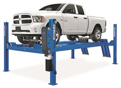 If your dealership is currently equipped with one or more twin-post lifts, it may be time to consider adding a four-post lift. This type of lift will allowing service to be performed while keeping the suspension loaded.