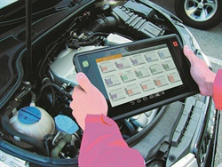 Wireless touch screen pads are becoming more popular. An example is the Launch Tech X-431 PAD II AE-301180411.
