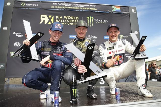 The podiumat Killarney International Raceway in South Africa.