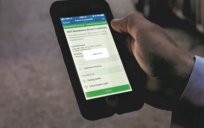 Fleetio integrates telematics systems to feed data such as odometer readings into fleet management software. Shown here is Fleetio's inspection app. Photo courtesy Fleetio
