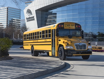 Electronic stability control and backup cameras will be standard on all new Blue Bird school buses built in 2019. File photo