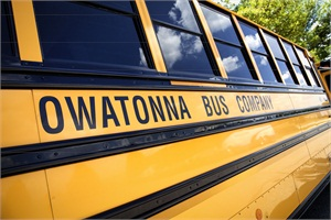 Owatonna Bus Co. has six locations, serving 48 states and all Canadian provinces. Though the company's bread and butter is school buses, its various locations also offer services such as a full paint booth for outside work, charter coaches and special-needs transportation.